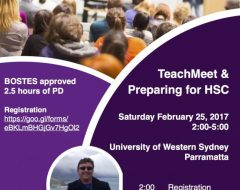 TeachMeet & Preparing for HSC PD