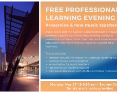 Preservice professional learning evening